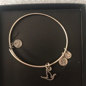 Alex and Ani Silver Dove Charm Bracelet